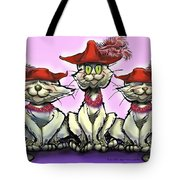 Cats In Red Hats Tote Bag