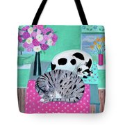 Cats In Spring Tote Bag