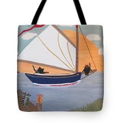 Cats On Cat Boat Tote Bag