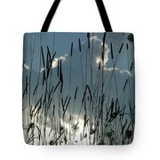 Cattail Sky Tote Bag