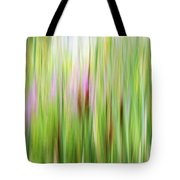 Cattails And Flowers Tote Bag