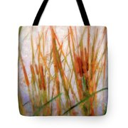 Cattails By The Lake Tote Bag