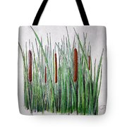 Cattails 3 Tote Bag