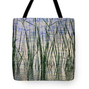 Cattails In The Lake Tote Bag