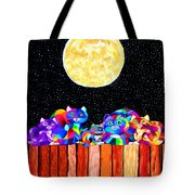 Catting In The Moonlight Tote Bag