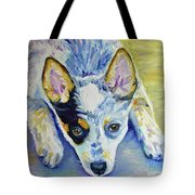 Cattle Dog Puppy Tote Bag