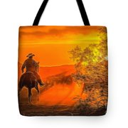 Cattle Drive 45 Tote Bag