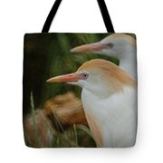 Cattle Egrets Dry Brushed Tote Bag