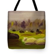 Cattle In Field  Tote Bag