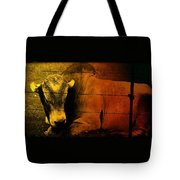 Cattle In Sunny Texas Tote Bag
