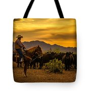 Cattle Drive 41 Tote Bag