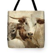 Cattle Steers Tote Bag