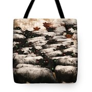 Cattle With Snow On Their Backs Tote Bag
