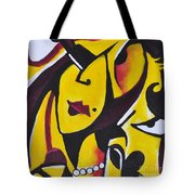 Catwalk, It Is Her Night Tote Bag by David Weingaertner