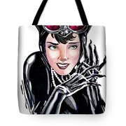 Catwoman- Markers Tote Bag