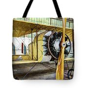 Caudron G3 Propeller And Cockpit - Vintage Tote Bag