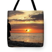 Caught At Sunset Tote Bag