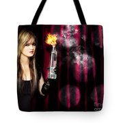 Caught In The Act Of Setting The Stage On Fire Tote Bag