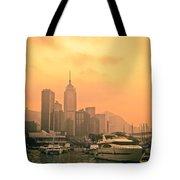 Causeway Bay At Sunset Tote Bag
