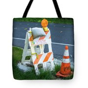 Caution, Road Work Tote Bag