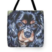 Cavalier King Charles Spaniel Black And Tan Tote Bag by Lee Ann Shepard