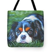 Cavalier King Charles Spaniel Tricolor Tote Bag by Lee Ann Shepard