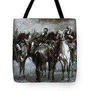 Cavalry In An Arizona Sandstorm 1889 Tote Bag