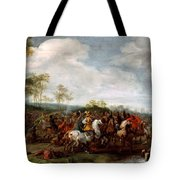 Cavalry Skirmish Tote Bag