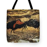 Cave Art: Bison Tote Bag
