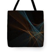 Cave Computer Graphic Line Pattern Tote Bag