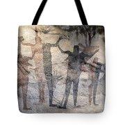 Cave Painting Of Prehistoric Man Tote Bag
