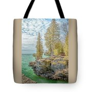 Cave Point Bluffs 2 Tote Bag