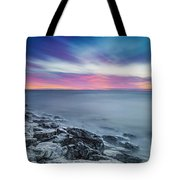 Cave Point Sunrise Tote Bag