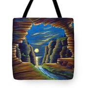 Cave With Cliffs Tote Bag