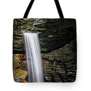 Cavern Cascade In Watkins Glen Tote Bag