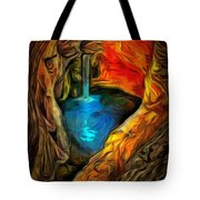 Cavernous Pool In Ambiance Tote Bag