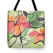 Cayenas Atrapadas  Hibiscus Tote Bag