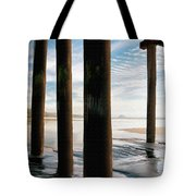 Cayucos Pier Tote Bag by Sharon Foster