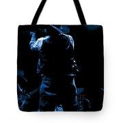 Cdb Winterland 12-13-75 #11 Enhanced In Blue Tote Bag