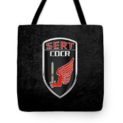 C.d.c.r Special Emergency Response Team - S.e.r.t. Patch Over Black Tote Bag