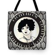 Cecely Bloom Deco Portrait Tote Bag