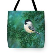 Cedar Chickadees - Bird 2 Tote Bag