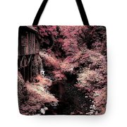 Cedar Creek Grist Mill Soft Burgundy Tote Bag