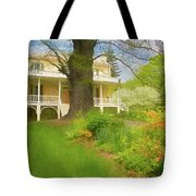 Cedar Grove In Spring Tote Bag