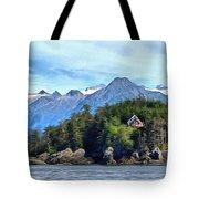 Cedar Home On Bluff Tote Bag