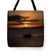 Cedar Key Sunset Tote Bag