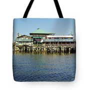 Cedar Key Waterfront Tote Bag