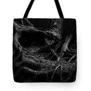 Cedar Roots Black And White Tote Bag