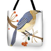 Cedar Waxwing In The Berries Tote Bag