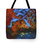 Cedarburg Mill At Night Tote Bag